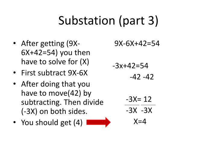 Substation (part 3)