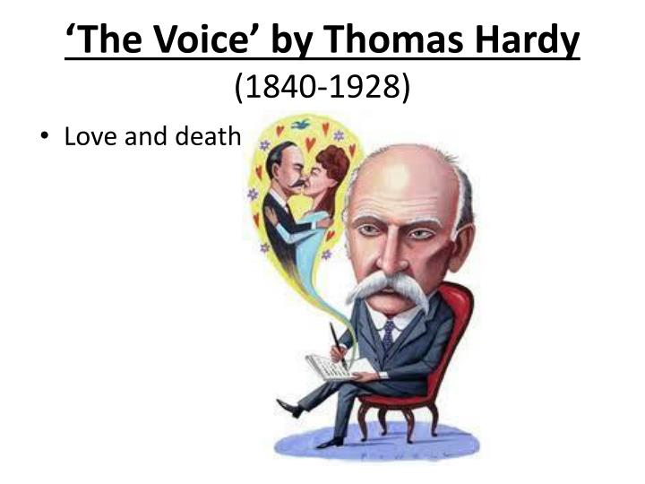 the voice thomas hardy essay questions The voice that testified against captors and bore witness to the urge to be free evolved into a voice that testified against bigotry and bore witness to the urge to be equal although gates talks about the black voice throughout his essay, he leaves the question open as to exactly what the black voice is.