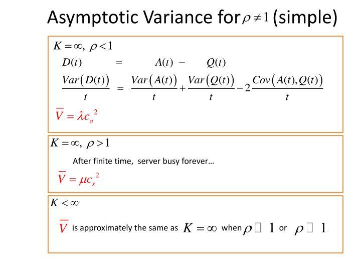 Asymptotic Variance