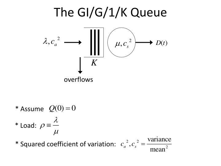 The gi g 1 k queue