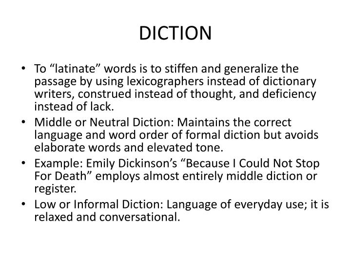 diction Dictionary definition: 1 a book that contains a list of words in alphabetical order and that explains their meanings, or gives a word for them in another language a similar product.
