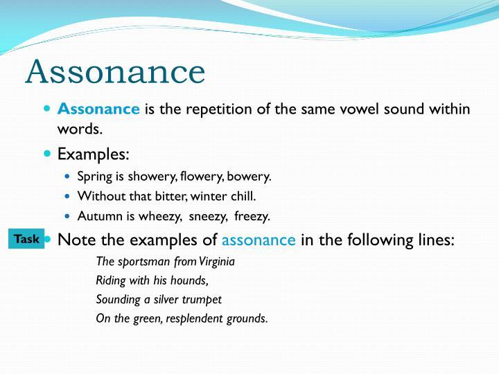 Assonance examples alisen berde.