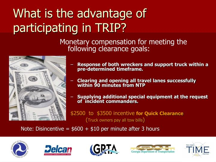 What is the advantage of participating in TRIP?