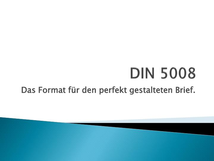Ppt Din 5008 Powerpoint Presentation Free Download Id