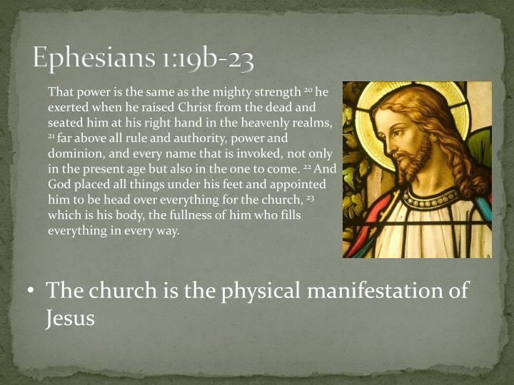 Ephesians 1:19b-23
