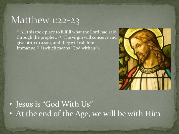 Matthew 1 22 23