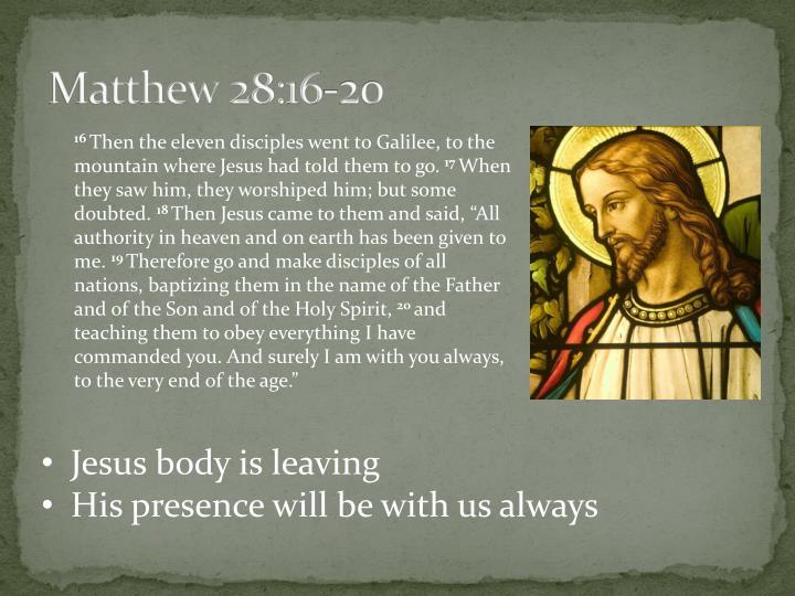 Matthew 28 16 20