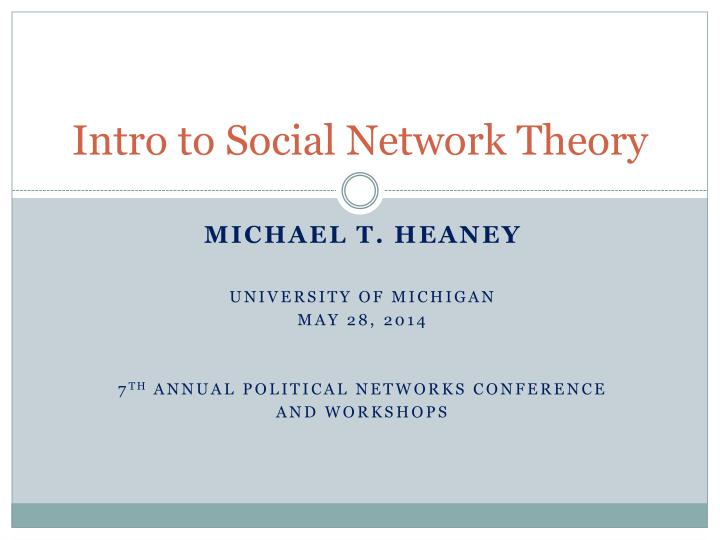 intro to social network theory n.