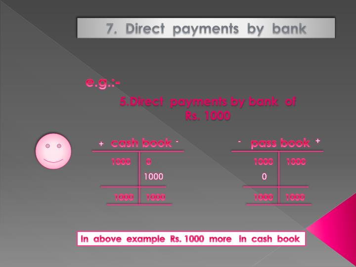 7.  Direct  payments  by  bank