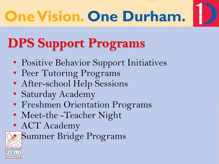 DPS Support Programs