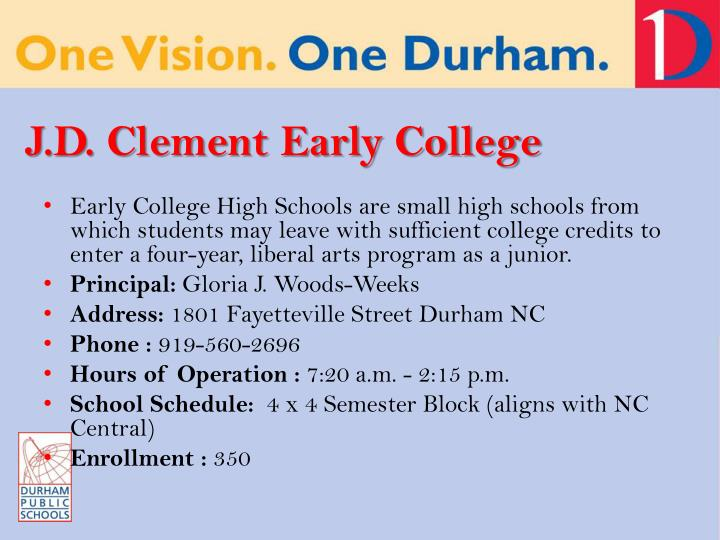 J.D. Clement Early College