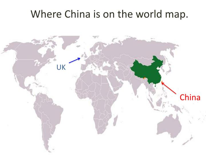 PPT - Where China is on the world map. PowerPoint ...