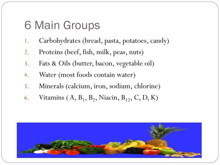 6 main groups