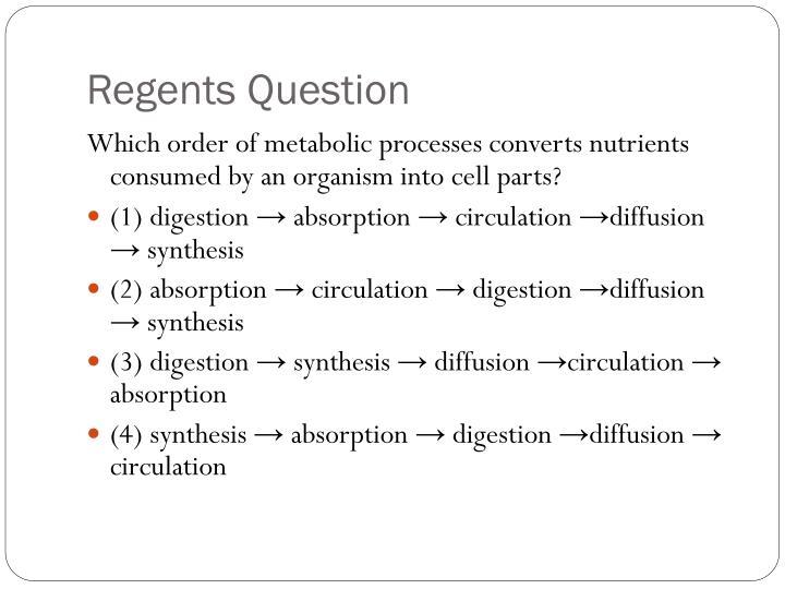 Regents Question