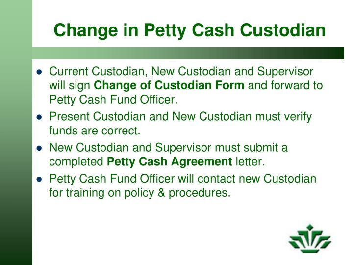 Petty Cash Agreement Gallery  Agreement Letter Format