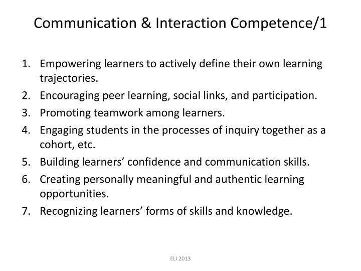 Communication & Interaction Competence/1