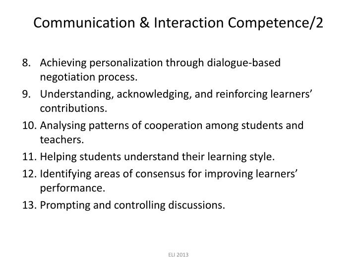 Communication & Interaction Competence/2