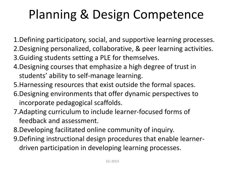 Planning & Design Competence