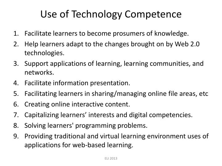 Use of Technology Competence