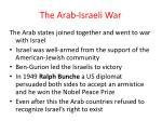the arab israeli war
