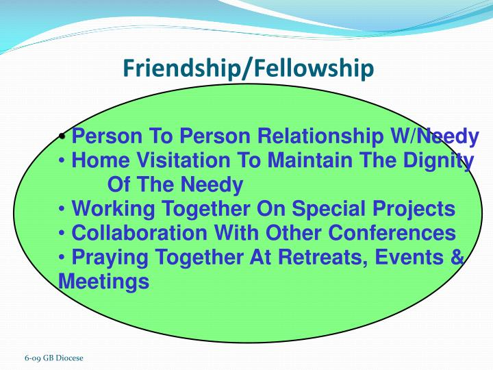 Friendship/Fellowship