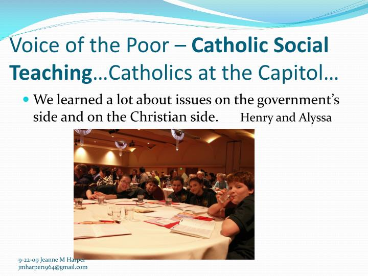Voice of the Poor –