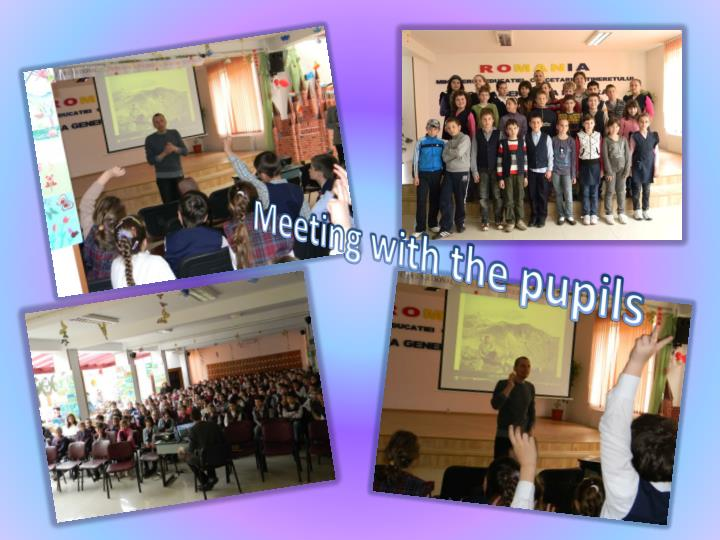 Meeting with the pupils