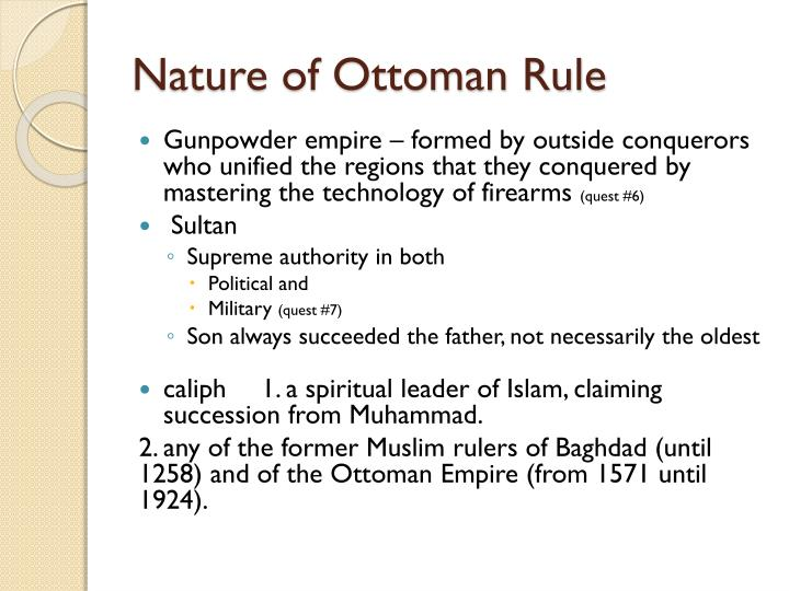 Nature of Ottoman Rule