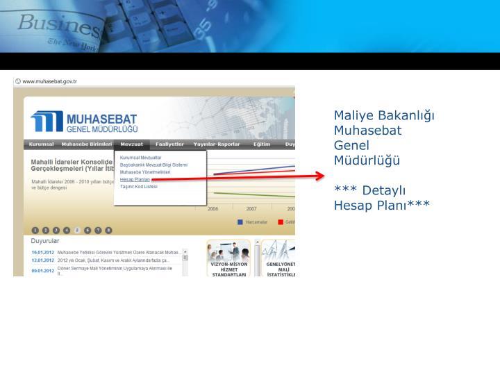 Maliye Bakanlığı Muhasebat Genel Müdürlüğü