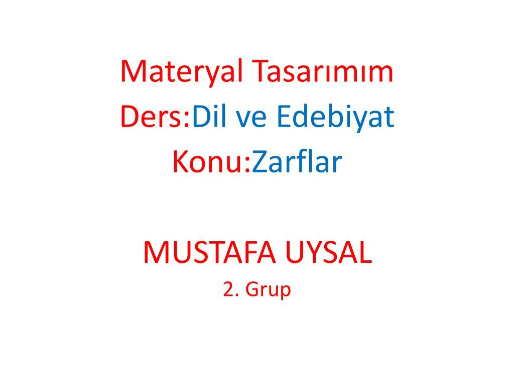 Edebiyat Konuları Ders Sitesi
