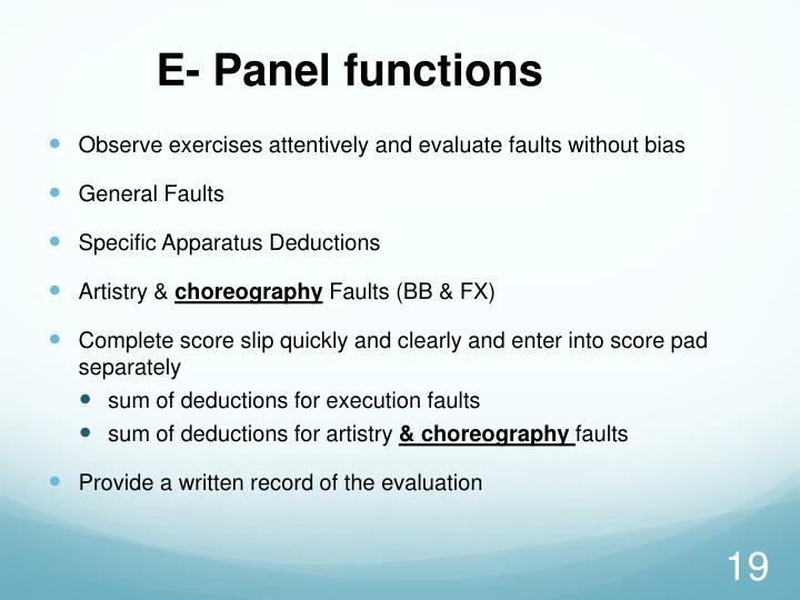 E- Panel