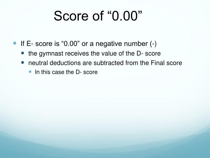 "Score of ""0.00"""