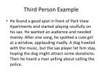 third person example