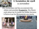 l armistice de 1918 11 novembre