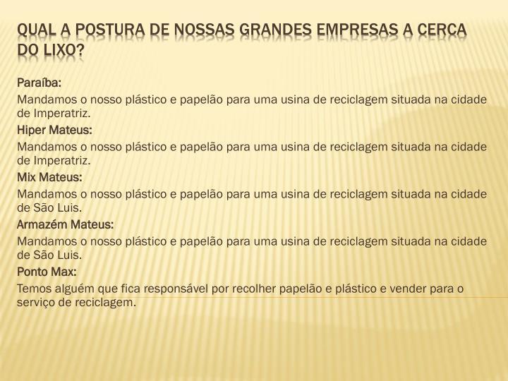 Paraíba: