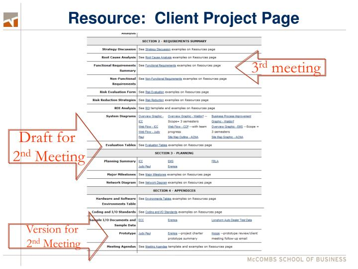 Resource:  Client Project