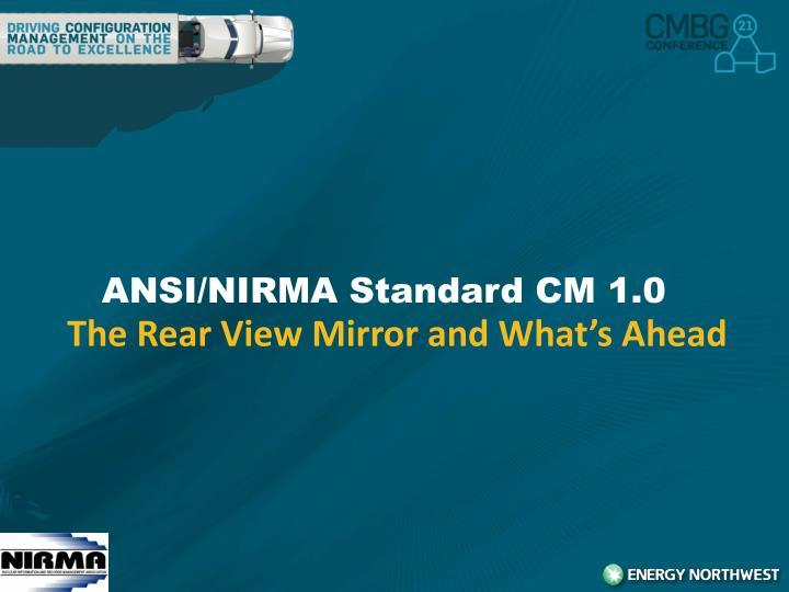 Ansi nirma standard cm 1 0