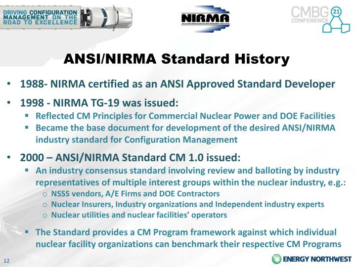 ANSI/NIRMA Standard History