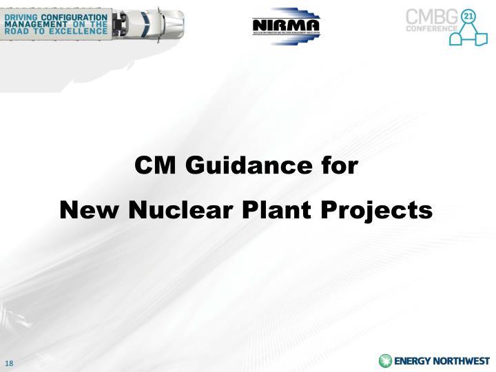 CM Guidance for