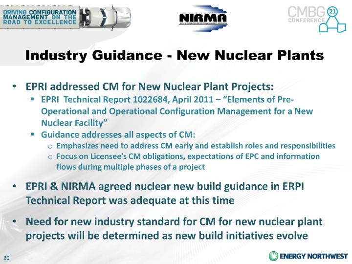Industry Guidance - New