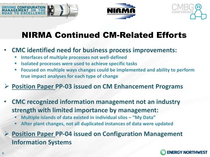NIRMA Continued CM-Related