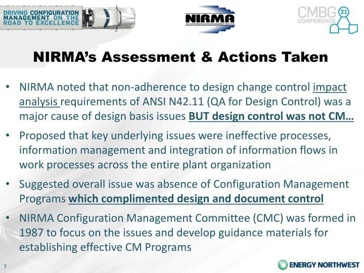 NIRMA's Assessment &