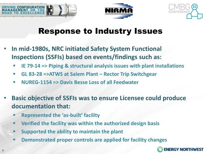 Response to Industry Issues