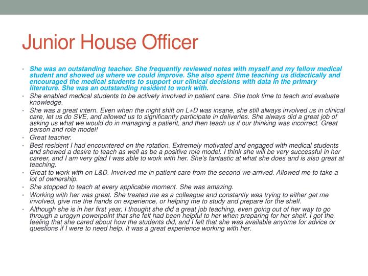 Junior house officer