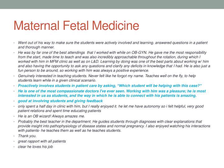 Maternal Fetal Medicine