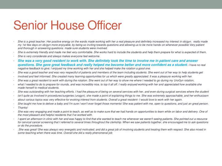 Senior House Officer