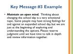 key message 3 example