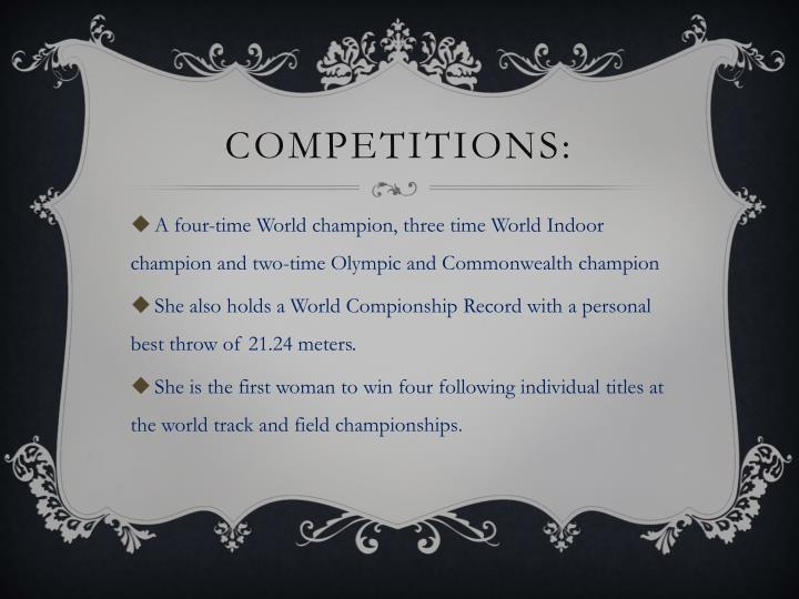 Competitions