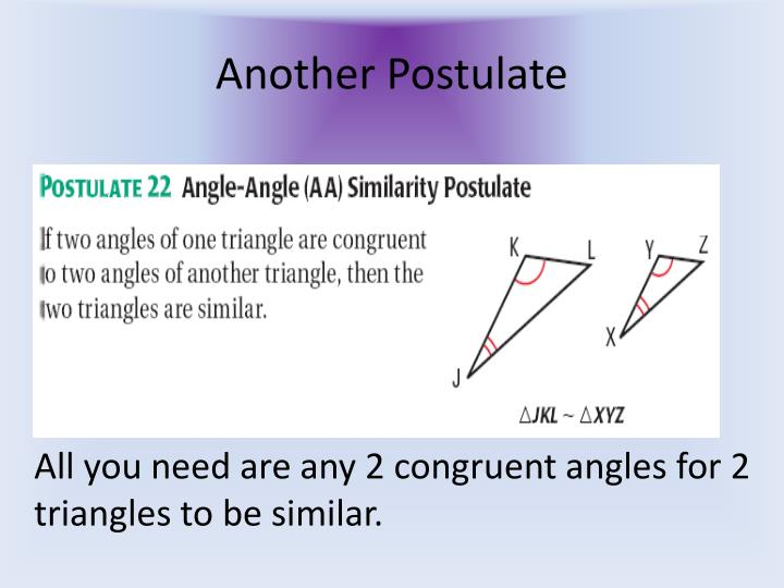 Another postulate