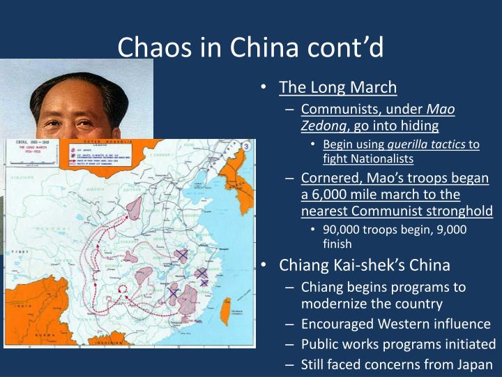 Chaos in China cont'd
